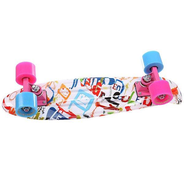 Скейт мини круизер Turbo-FB MultiBlotch Blue/Pink/Multi 22 (55.9 см)