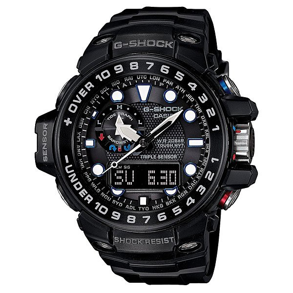 Часы Casio G-Shock Gulfmaster Gwn-1000b-1a True Black