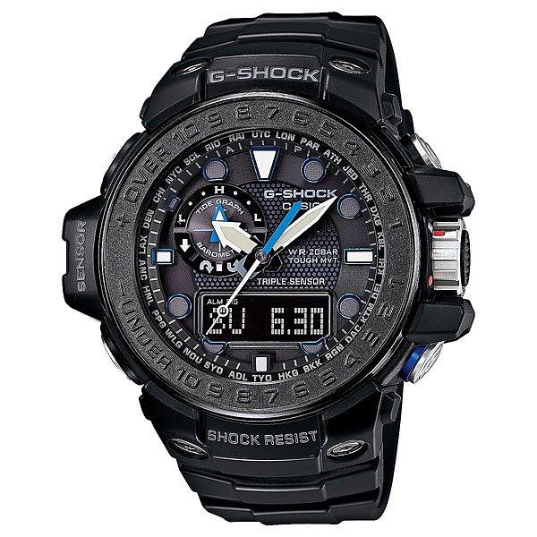 Часы Casio G-Shock Gwn-1000c-1a True BlackХарактеристики: Светодиодная подсветка. Ударопрочная конструкция защищает от ударов и вибрации. Функция мирового времени.Покрытые спецсоставом метки на циферблате и стрелках светятся в темноте.Таймер с минутной точностью и автоповтором. 5 ежедневных будильников, сигнал каждый час.Функция повтора будильника. Включение/выключение звука кнопок.  Лунный календарь.Прочное, устойчивое к царапинам минеральное стекло защищает часы от повреждений.Корпус из полимерного пластика и нержавеющей стали. Ремешок из полимерного материала. Водонепроницаемость (20 Бар/200 м). Работа от солнечной батареи (энергии света).Вес:44,9 гр<br><br>Цвет: черный<br>Тип: Кварцевые часы<br>Возраст: Взрослый<br>Пол: Мужской