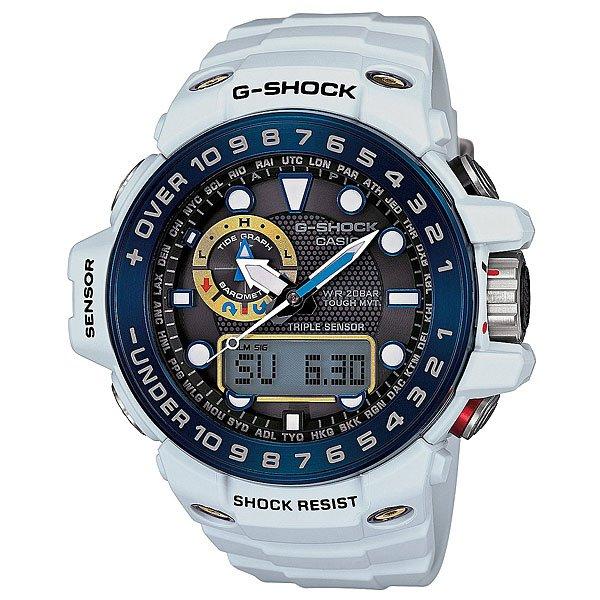 Часы Casio G-Shock Gwn-1000e-8a WhiteХарактеристики: Светодиодная подсветка. Ударопрочная конструкция защищает от ударов и вибрации. Функция мирового времени.Покрытые спецсоставом метки на циферблате и стрелках светятся в темноте.Таймер с минутной точностью и автоповтором. 5 ежедневных будильников, сигнал каждый час.Функция повтора будильника. Включение/выключение звука кнопок.  Лунный календарь.Прочное, устойчивое к царапинам минеральное стекло защищает часы от повреждений.Корпус из полимерного пластика и нержавеющей стали. Ремешок из полимерного материала. Водонепроницаемость (20 Бар/200 м). Работа от солнечной батареи (энергии света).Вес:44,9 гр<br><br>Цвет: белый<br>Тип: Кварцевые часы<br>Возраст: Взрослый<br>Пол: Мужской
