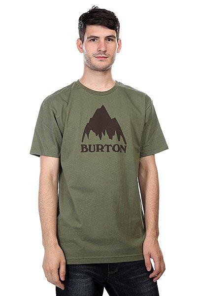 Футболка Burton Mns Classic Mtn Loam<br><br>Цвет: зеленый<br>Тип: Футболка<br>Возраст: Взрослый<br>Пол: Мужской