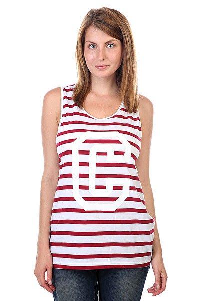 Майка женская CLWR Banger Tank Top Burgundy Stripe<br><br>Цвет: бордовый,белый<br>Тип: Майка<br>Возраст: Взрослый<br>Пол: Женский