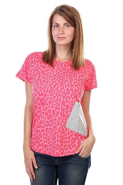 Футболка женская CLWR Holk Top Pink Leo футболка clwr clwr cl003ewtqu55