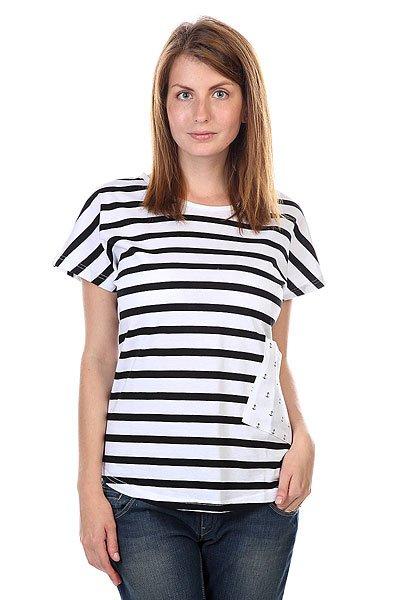 Футболка женская CLWR Holk Top Black Stripe<br><br>Цвет: белый,черный<br>Тип: Футболка<br>Возраст: Взрослый<br>Пол: Женский