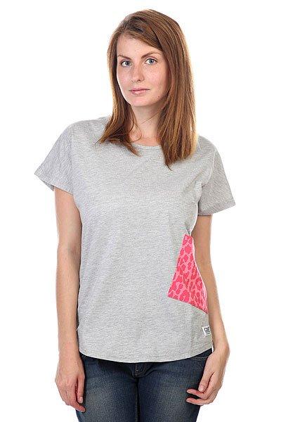 Футболка женская CLWR Holk Top Grey Melange футболка clwr clwr cl003ewtqu55