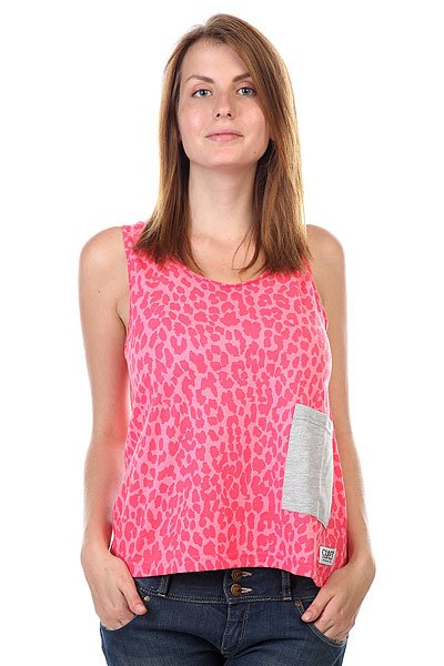 Майка женская CLWR Whif Tank Top Pink Leo<br><br>Цвет: розовый<br>Тип: Майка<br>Возраст: Взрослый<br>Пол: Женский