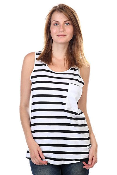 худи clwr clwr cl003emtqu27 Майка женская CLWR Wp Tank Top Black Stripe