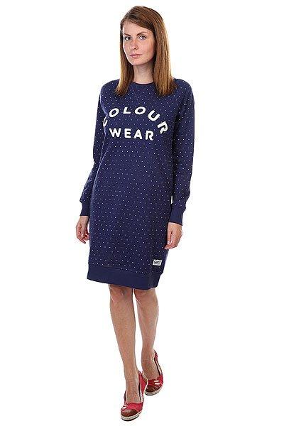 Платье женское CLWR Crew Dress Florida Patriot DotИсключительное внимание к деталям, по-европейски нордический стиль и функциональность – отличительные особенности молодого шведского бренда CLWR - Color Wear.Характеристики:Прямой крой. Удлиненный силуэт.<br><br>Цвет: синий<br>Тип: Платье<br>Возраст: Взрослый<br>Пол: Женский