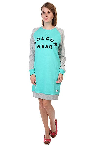 платье-же-нское-clwr-crew-dress-florida-green-melange