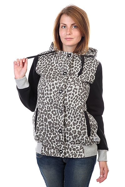 Толстовка женская CLWR Punk Hood Grey Melange Leo футболка clwr plain loden leo