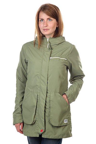 Куртка парка женская CLWR Bridge Parka LodenТехнические характеристики: Верх из 100% полиэстера. Внутренняя подкладка-хлопок+сетка.Без внутреннего утепления (осень/весна).  Застежка – молния + кнопки.  Фиксированный капюшон. Два боковых накладных кармана для рук.  Фасон: парка (parka).<br><br>Цвет: зеленый<br>Тип: Куртка парка<br>Возраст: Взрослый<br>Пол: Женский