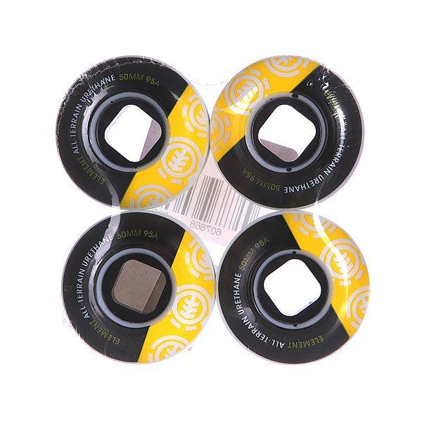 Колеса для скейтборда для скейтборда Element Section 95A 50 mmДиаметр: 50 mm    Жесткость: 95A    Цена указана за комплект из 4-х колес<br><br>Цвет: черный,желтый<br>Тип: Колеса для скейтборда