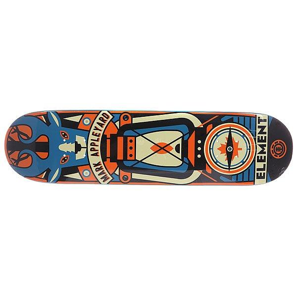 Дека для скейтборда для скейтборда Element Appleyard Totem 31.75 x 8.1 (20.6 см)Ширина деки: 8.1 (20.6 см)    Длина деки: 31.75 (80.6 см)    Количество слоев: 7<br><br>Цвет: мультиколор<br>Тип: Дека для скейтборда