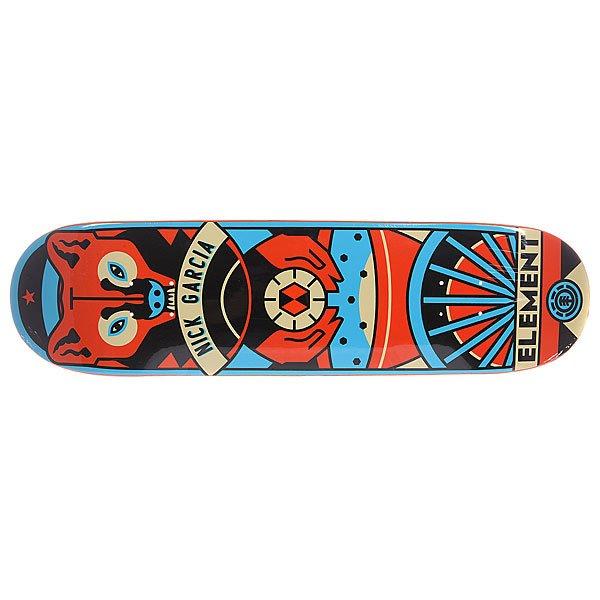 Дека для скейтборда для скейтборда Element Garcia Totem 31.75 x 8.3 (21.1 см)Ширина деки: 8.3 (21.1 см)    Длина деки: 31.75 (80.6 см)    Количество слоев: 7<br><br>Цвет: мультиколор<br>Тип: Дека для скейтборда