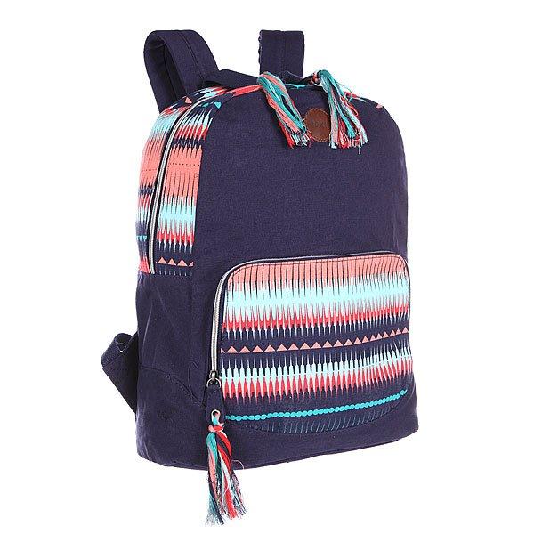Рюкзак городской женский Roxy Primary J PeacoatУдобный рюкзак для школы и прогулок. Характеристики:  Основное отделение, вмещающее папку формата А4 на молнии.  Удобный карман на молнии с наружной стороны. Маленький карман на молнии с лицевой стороны. Мягкие регулируемые лямки.  Защитная уплотненная задняя панель.<br><br>Цвет: синий,голубой,оранжевый<br>Тип: Рюкзак городской<br>Возраст: Взрослый<br>Пол: Женский