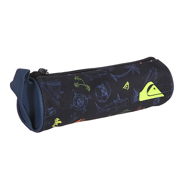 Пенал Quiksilver Pencil Print Backool Black