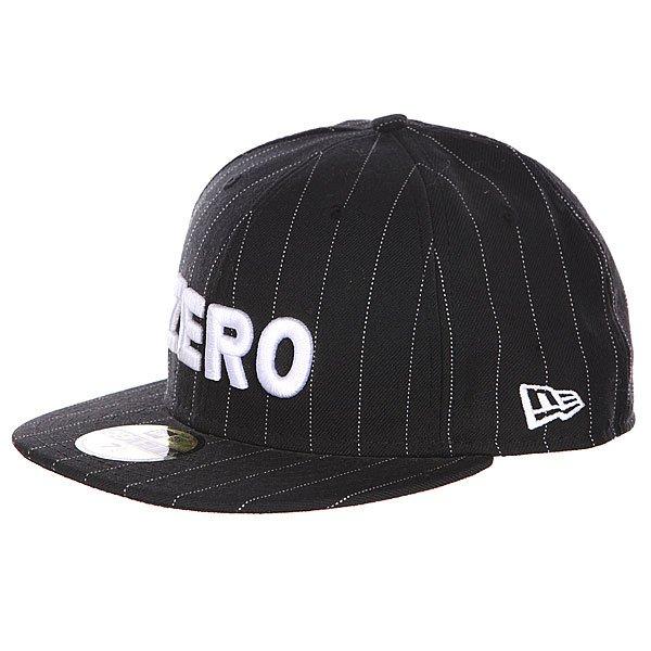 Бейсболка New Era Zero Army PinstripeБейсболка New Era Zero, выполненная в классическом стиле, надежно защитит вашу голову от солнца.Характеристики: Шесть панелей. Широкий козырек.  В передней части – вышивка-логотип.<br><br>Цвет: черный<br>Тип: Бейсболка с прямым козырьком<br>Возраст: Взрослый