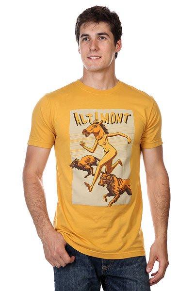 Футболка Altamont Donkey Girl Gold<br><br>Цвет: оранжевый<br>Тип: Футболка<br>Возраст: Взрослый<br>Пол: Мужской