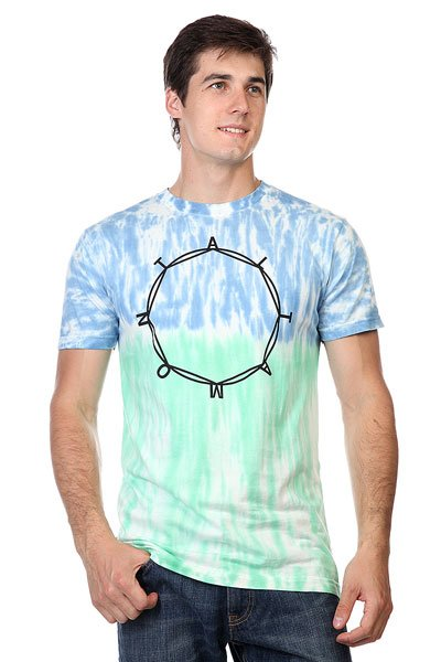 Футболка Altamont Octo Ring Tie Dye Tee Turquoise<br><br>Цвет: белый,синий,зеленый<br>Тип: Футболка<br>Возраст: Взрослый<br>Пол: Мужской