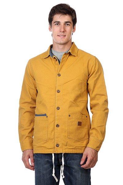 Куртка Altamont Salman Shirt Jacket GoldЯркая удлиненная куртка Altamont Salman Shirt Jacket Gold классического кроя, в которой Вам будет уютно и тепло даже в хмурые осенние дни.Технические характеристики: Хлопковая подкладка.Отложной воротник.Два накладных кармана для рук.Подол с утяжкой.Застежка - пуговицы.Манжеты на пуговицах.Фасон - стандартный (regular fit).<br><br>Цвет: коричневый<br>Тип: Куртка<br>Возраст: Взрослый<br>Пол: Мужской