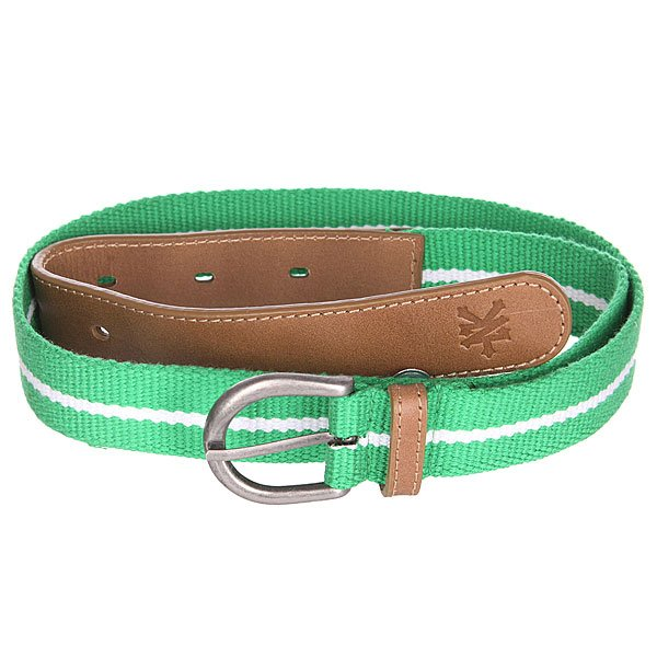 Ремень Zoo York Standart Stripe Kelly Green