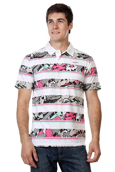 ���� Zoo York Enew15 Polo Sharpie Style White