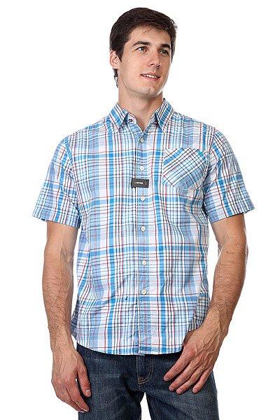 Рубашка в клетку Zoo York Enew15 Astoria Azure<br><br>Цвет: белый,голубой<br>Тип: Рубашка в клетку<br>Возраст: Взрослый<br>Пол: Мужской