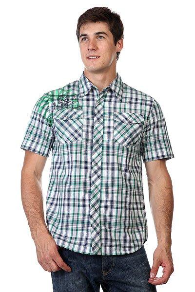 Рубашка в клетку Zoo York Enew15 Syosset Navy<br><br>Цвет: белый,синий,зеленый<br>Тип: Рубашка в клетку<br>Возраст: Взрослый<br>Пол: Мужской