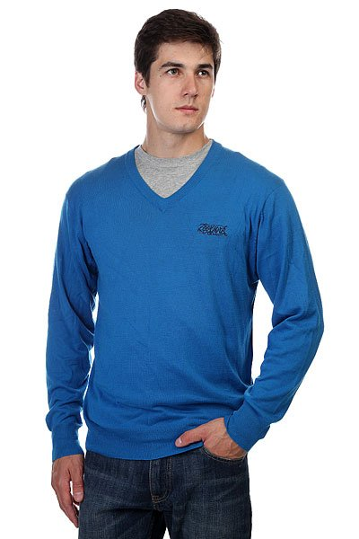 Джемпер Zoo York Enew15 Solid V Neck Sov. Blue