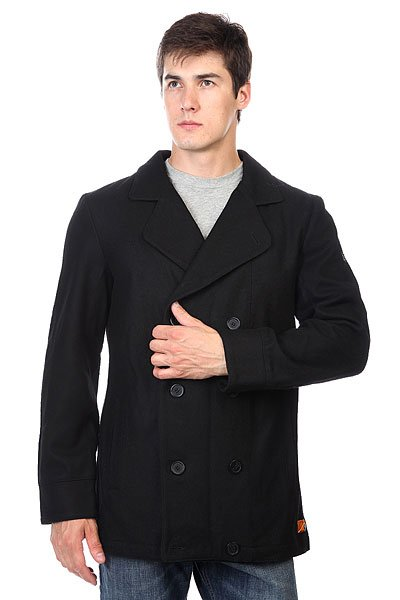 Пальто Zoo York Enew15 Jim Peacoat Black