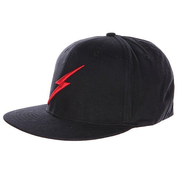 Бейсболка Lightning Bolt Bold Ii Cap Black<br><br>Цвет: черный<br>Тип: Бейсболка с прямым козырьком<br>Возраст: Взрослый<br>Пол: Мужской