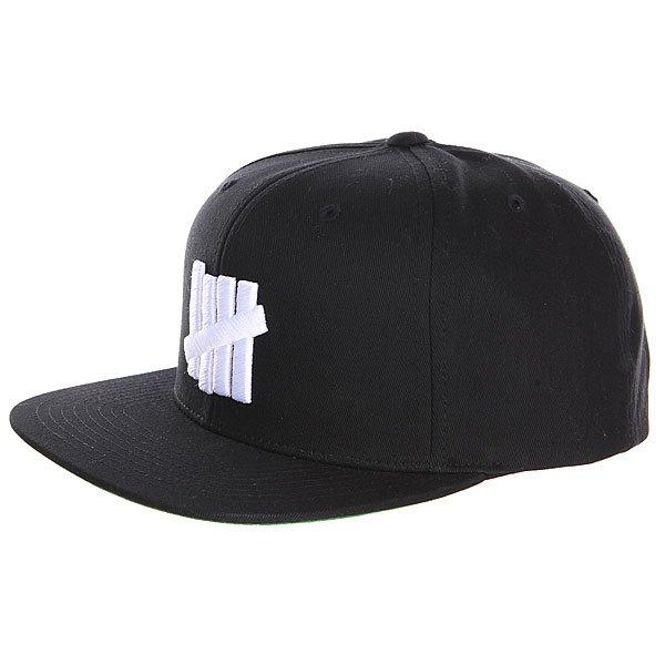Бейсболка Undefeated 5 Strike Cap Black<br><br>Цвет: черный<br>Тип: Бейсболка с прямым козырьком<br>Возраст: Взрослый
