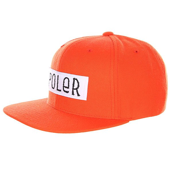 Бейсболка Poler Furry Font Trucker Hat Solid Back Burnt Orange