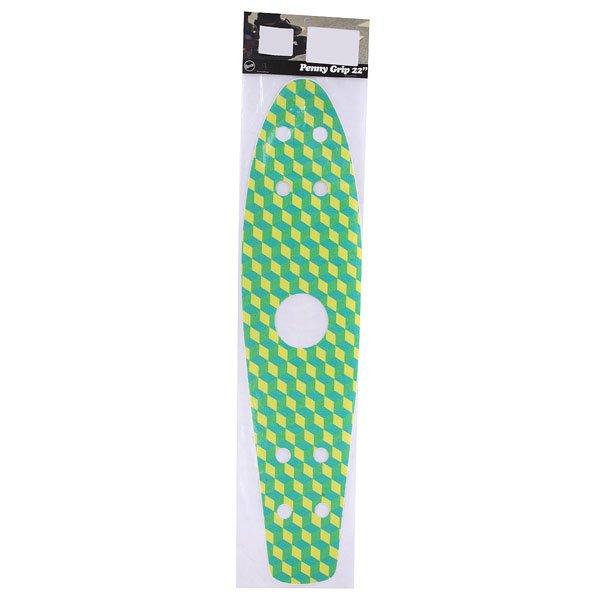 Шкурка для скейтборда для лонгборда Penny Griptape Cubic Green 22(55.9 см)Если Вы предпочитаете более активную манеру катания, тогда шкурка, которая бывает разных цветов - для Вас! На обратной стороне шкурка имеет специальную разметку, благодаря чему, перед тем, как наклеить её, Вы можете вырезать какой-нибудь оригинальный узор. Шкурка хорошо отталкивает воду, можно спокойно кататься на Penny Board по лужам. Благодаря шкурке – Вы можете менять дизайн Вашего лонгборда, в зависимости от Вашего настроения! Характеристики:Для модели Penny Original 22.<br><br>Цвет: зеленый,желтый,голубой<br>Тип: Шкурка для лонгборда