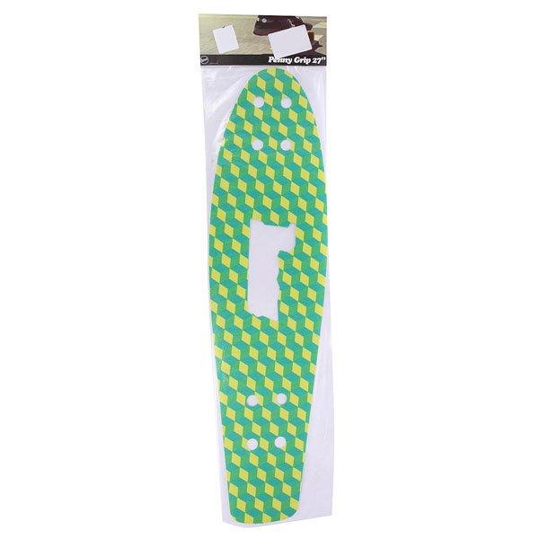 Шкурка дл скейтборда дл лонгборда Penny Griptape Cubic Green 27(68.6 см)Ярка шкурка Penny дл деки обеспечитпрочное сцеплениеподошвой и выдаств Вас творческу личность. Характеристики:Дл модели Nickel 27.<br><br>Цвет: зеленый,желтый,голубой<br>Тип: Шкурка дл лонгборда