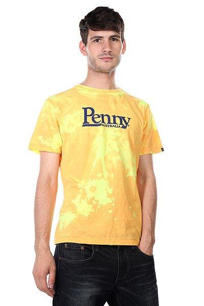 Футболка Penny Shirt Hot Spot Orange To YellowЖара! Вы это чувствуете? Пусть окружающие это видят! Футболка от Penny, которая меняет цвет при воздействии теплого воздуха.Особенности: Короткий рукав Округлый вырез горловины Цвет меняется при воздействии теплого воздуха Принт Penny на груди Материал: 100% хлопок.<br><br>Цвет: желтый,оранжевый<br>Тип: Футболка<br>Возраст: Взрослый<br>Пол: Мужской
