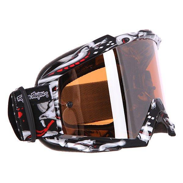 Маска для мотоспорта Oakley Proven Mx Tld Medusa Black BlackКомфортная маска в гибкой оправе O Matter™ и объемными линзами с отличным периферийным обзором.Технические характеристики: Ударопрочные линзы из материала Lexan™.Устойчивое к царапинам покрытие линз.Защита от запотевания F2 Anti-fog.Тройной слой пены и слой микро флиса.Широкий регулирующийся ремень.Силиконовые нити против скольжения.Возможность установки отрывных линз.Чехол в комплекте.<br><br>Цвет: черный,белый<br>Тип: Маски<br>Возраст: Взрослый<br>Пол: Мужской