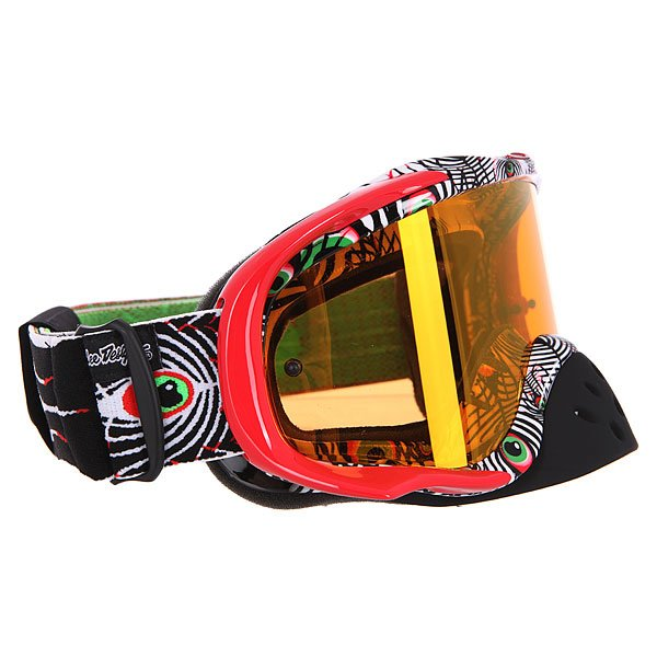 Маска для мотоспорта Oakley Crowbar Mx Tld Discharge Red/Green/Black Fire Iridium
