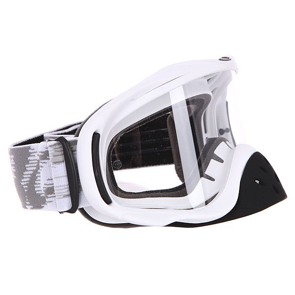 Маска для мотоспорта Oakley Crowbar Mx Matte White Speed Clear