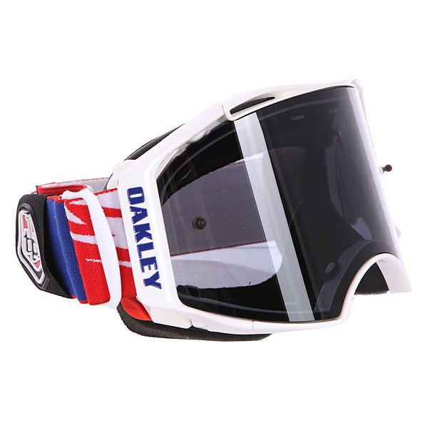 Маска для мотоспорта Oakley Airbrake Mx Tld Thunderbolt Red/White/Blue Dark Grey