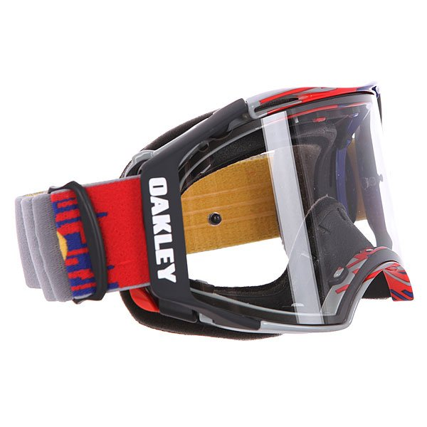 Маска для мотоспорта Oakley Airbrake Mx Hyperdrive Red/Blue Clear