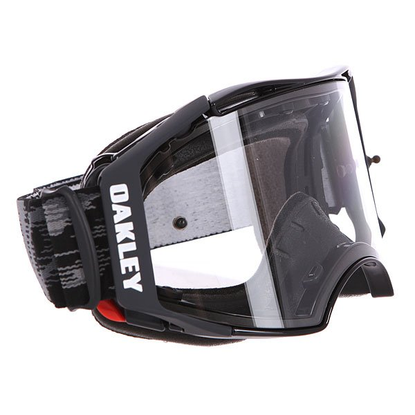 Маска для мотоспорта Oakley Airbrake Mx Jet Black Speed Clear