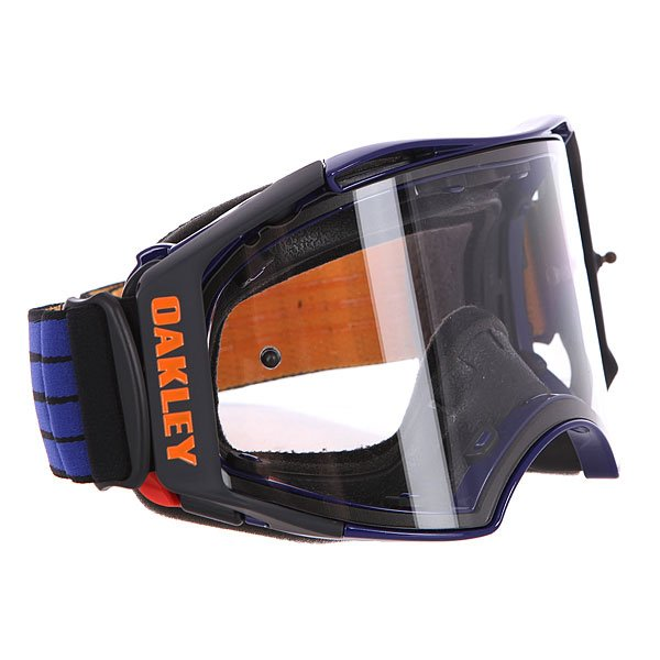 Маска для мотоспорта Oakley Airbrake Mx Blue/Orange Retro Speed Clear