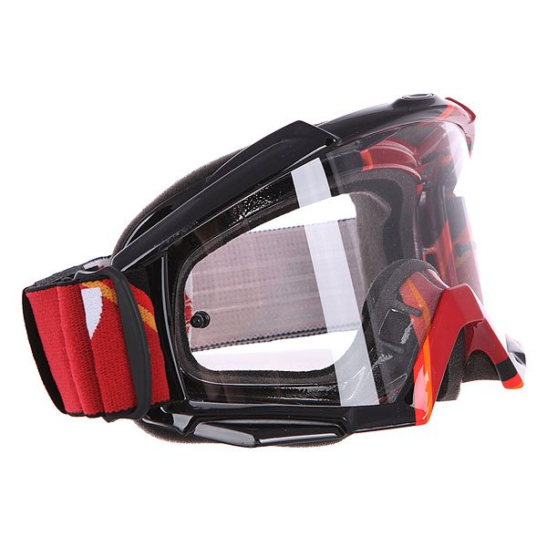 Маска для мотоспорта Oakley Proven Mx Red Victory Stripes Clear