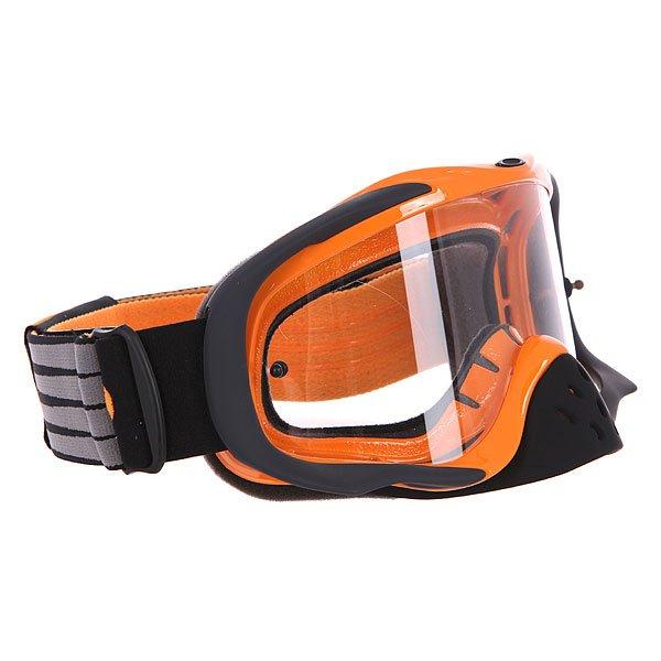 Маска для мотоспорта Oakley Crowbar Mx Herlings Signature ClearПрочная маска в легком дизайне с неограниченным обзором.Технические характеристики: Ударопрочные линзы из материала Lexan™.Устойчивое к царапинам покрытие линз.Защита от запотевания F2 Anti-fog.Съемная защита для носа.Тройной слой пены и слой микро флиса.Широкий регулирующийся ремень.Силиконовые нити против скольжения.Возможность установки отрывных линз.Чехол в комплекте.<br><br>Цвет: черный,оранжевый<br>Тип: Маски<br>Возраст: Взрослый<br>Пол: Мужской