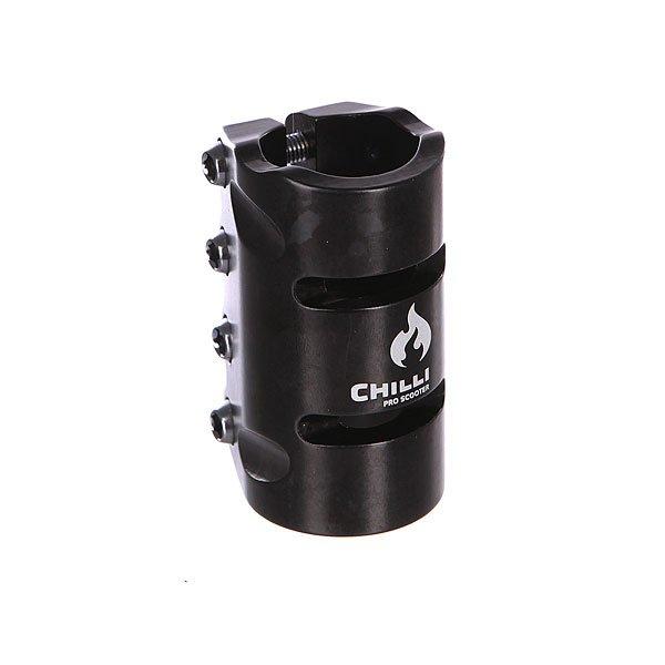 Зажимы Chilli Scs 4 Bolts Clamp BlackЗажим для рулевой стойки самоката.Технические характеристики: 4 металлических болта.Логотип на фронтальной стороне.<br><br>Цвет: черный<br>Тип: Зажимы