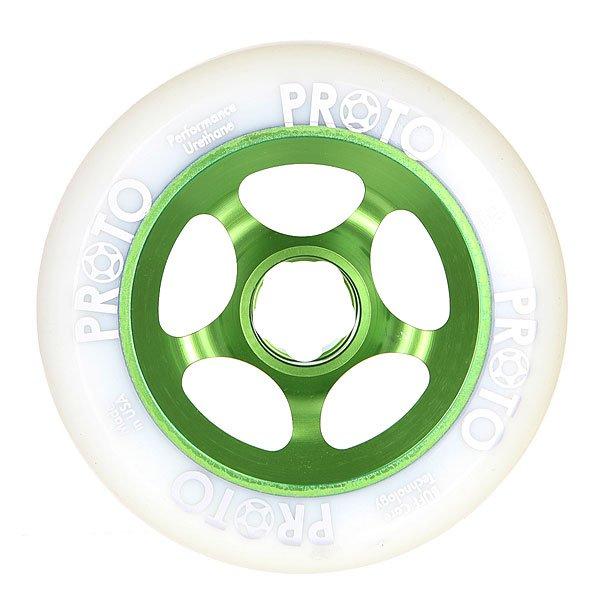 Колесо для самоката  Proto Scooters Slider 110mm White On GreenВысококачественные колеса, которые необходимы для вашего самоката. Ведь он ждет обновлений! Порадуй своего лучшего друга!Характеристики:Изготовлены из металла и полиуретана. Комплектуются подшипниками Proto Scooters. Комплект из 2х штук.<br><br>Цвет: белый,зеленый<br>Тип: Колесо для самоката