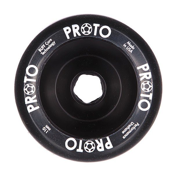 Колесо для самоката  Proto Scooters Full Core Slider 110mm BlackЛучшие колеса с хорошим пятном контакта – что еще нужно для устойчивого слайдинга.Характеристики:Диаметр: 110 мм. Сердечники из одной заготовки алюминия. Сделано в США.<br><br>Цвет: черный<br>Тип: Колесо для самоката