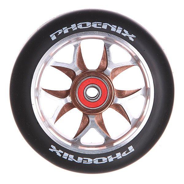 Колесо для самоката Phoenix F8 Alloy Core Wheel 110mm With Abec 9 Bearings Bronze/BlackPhoenix<br><br>Цвет: черный,коричневый,серый<br>Тип: Колесо для самоката