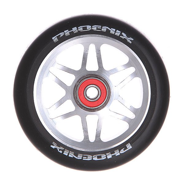 Колесо для самоката Phoenix F6 Alloy Core Wheel 110mm With Abec 9 Bearings Grey/BlackPhoenix<br><br>Цвет: черный,серый<br>Тип: Колесо для самоката